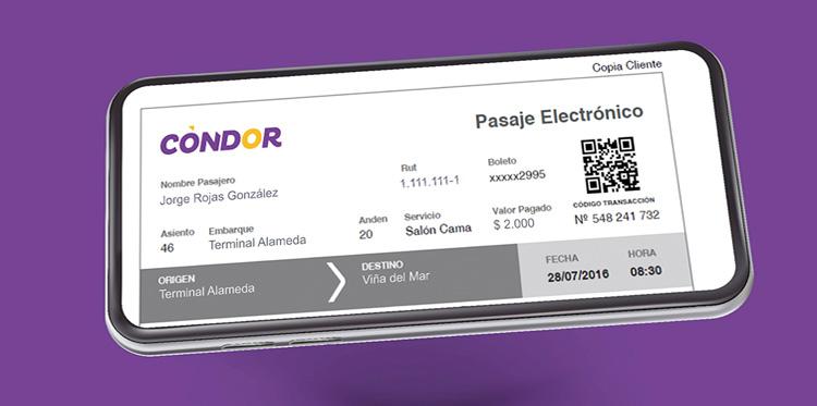 E-ticket Cóndor